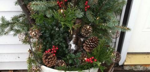 10 ideas para decorar el jardín en Navidad